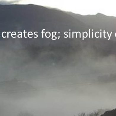 Simplifying in an Age of Complexity ~ Part 2